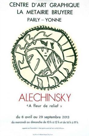 Lithograph Alechinsky - À fleur de relief