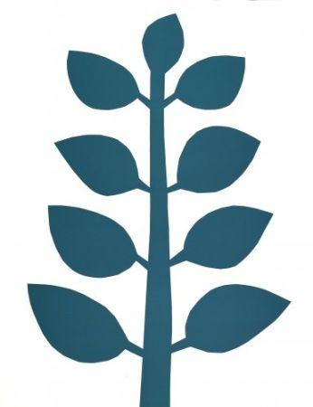Lithograph Ballester Moreno - Árbol verde