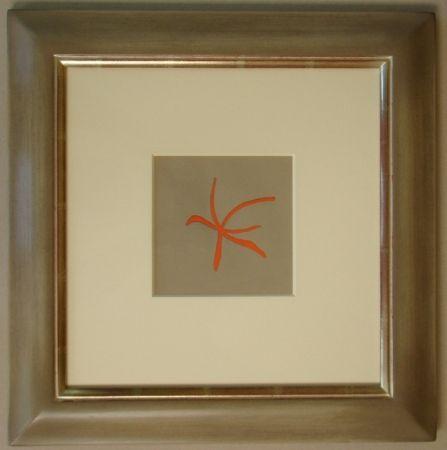 Lithograph Braque - Étoile de mer rouge, 1962