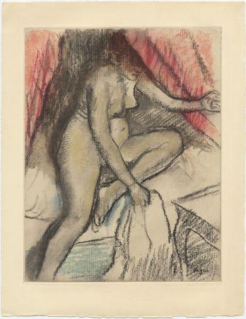 Etching And Aquatint Degas - Étude de nu (vers 1880)