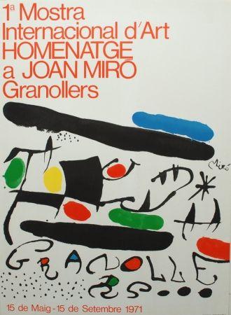 Lithograph Miró - 1ª Mostra Internacional d'Art Homenatge a Joan Miró Granollers