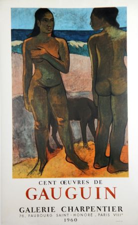 Lithograph Gauguin - 100 Oeuvres de Gaugin Galerie Charpentier