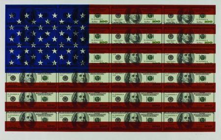 Screenprint Gagnon - $100 U.S. Flag