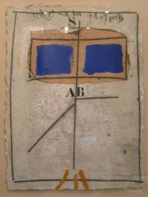 Etching Coignard - 1051 Deux Bleus S Rouge