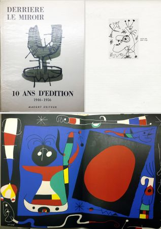 Illustrated Book Miró - 10 ANS D'ÉDITION.DLM 92-93. MIRO. 1955