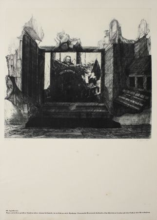 Etching Ackermann - 10.  Apotheose