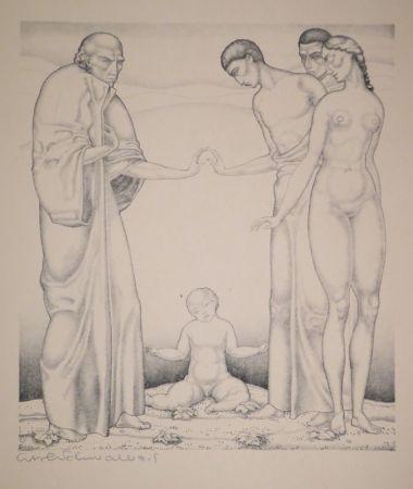 Lithograph Schwalbach - 10 Original Steinzeichnungen