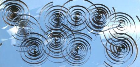 Woodcut Asis - 10 spirales mobiles sur acier