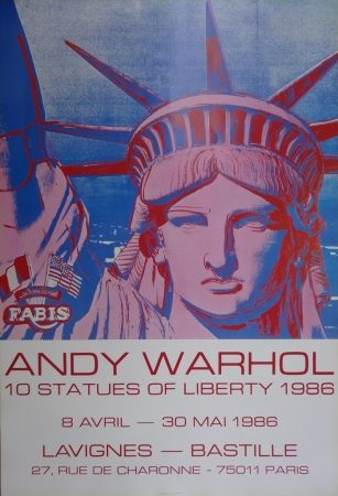 Poster Warhol - 10 Statues of Liberty