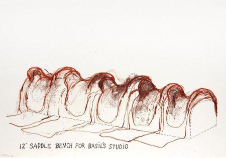 Lithograph Dine - 12' Saddle Bench for Basil's Studio