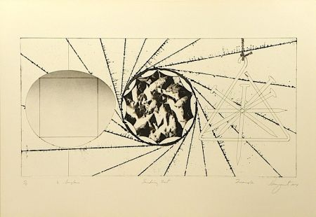 Etching And Aquatint Rosenquist - 1/2 Sunglasses, Landing Net, Triangle