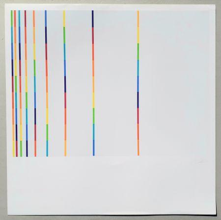 Screenprint Lohse - 12 vertical and horizontal progressions