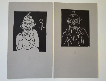 Lithograph Müller - 13 x Moa