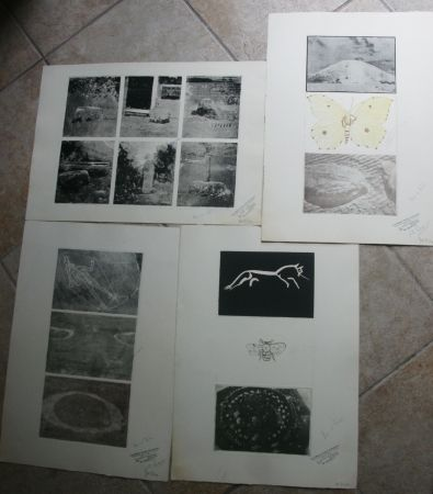 Etching Tilson - 15 prints on four sheets, 1 hand coloured