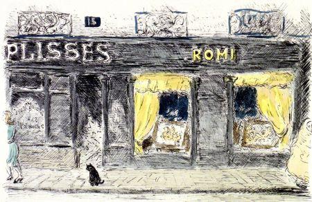 Lithograph Cascella - 15 Rue de Seine-Paris
