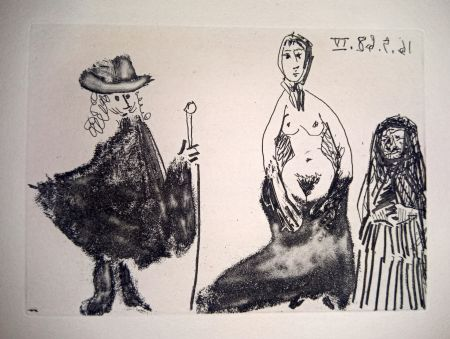 Engraving Picasso - 16 May 1968 IV