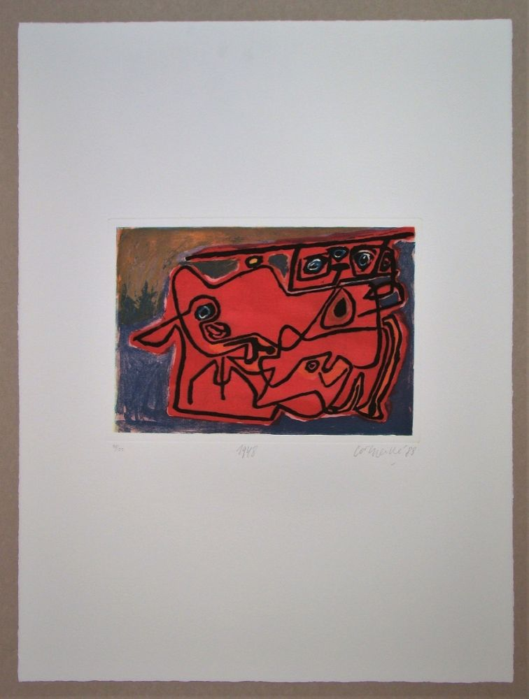 Etching Corneille - 1948