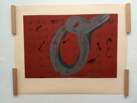 Lithograph Tàpies - 1972