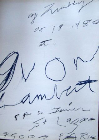 Poster Twombly - 1980