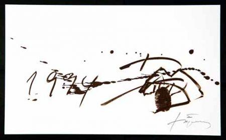 Lithograph Tàpies - 1994