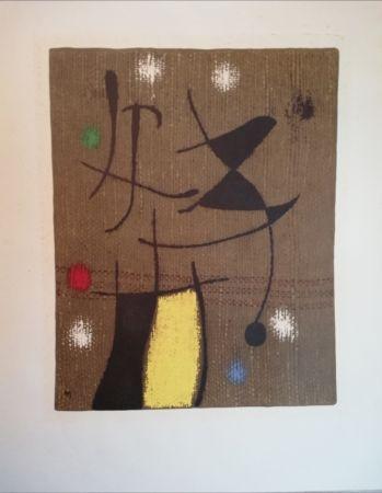 Lithograph Miró - 19 Femme et oiseau VI/X