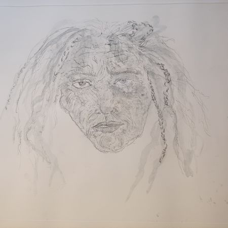 Etching Smith - 1st State Self Portrait