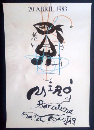 Poster Miró - 20 Abril 1983 Sala Gaspar