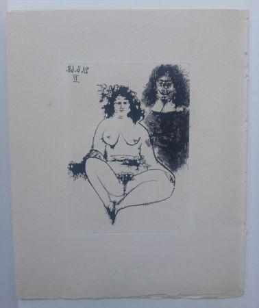 Aquatint Picasso - 21 Jun 1968 II - La Celestina - La Célestine