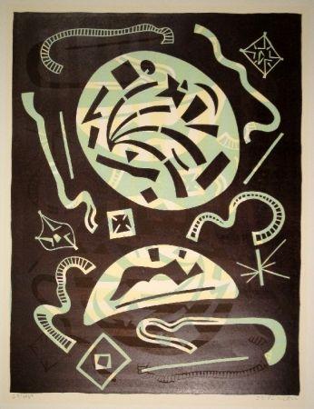 Linocut Nebel - 23/1969