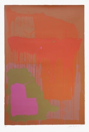 Screenprint Hoyland - 25.12.71