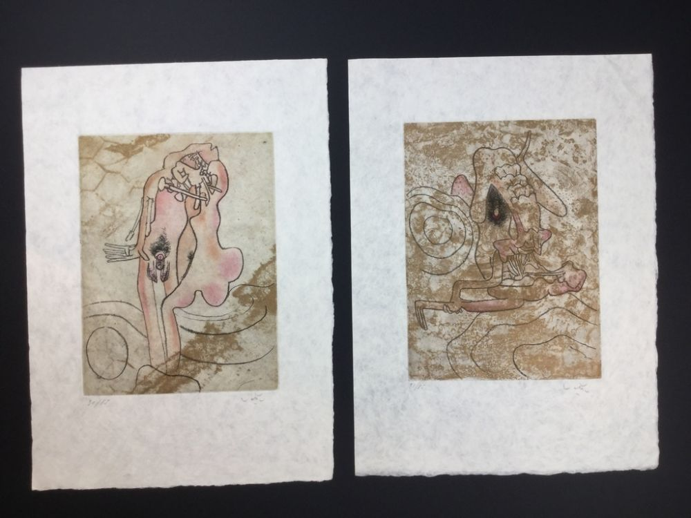 Etching And Aquatint Matta - 2 artworks from FMR folder