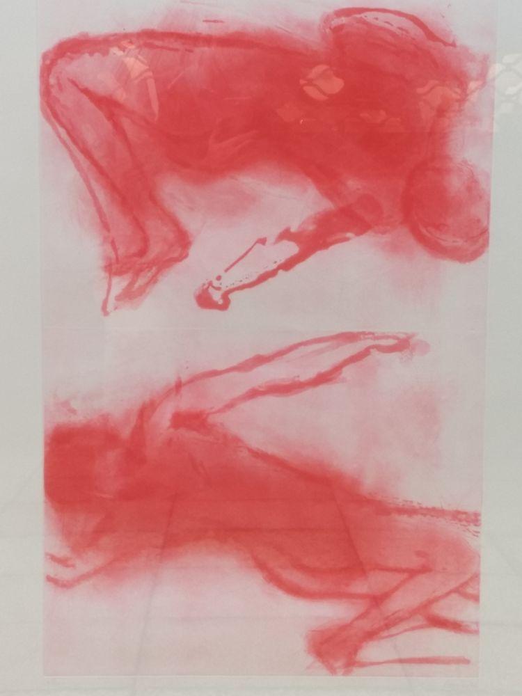 Lithograph Garache - 2 figures