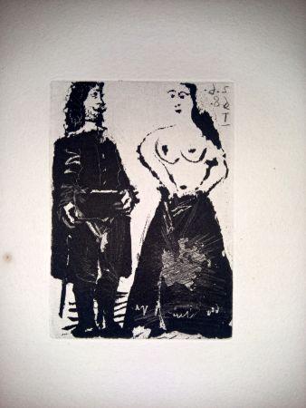 Aquatint Picasso - 2 Junio 1968 I