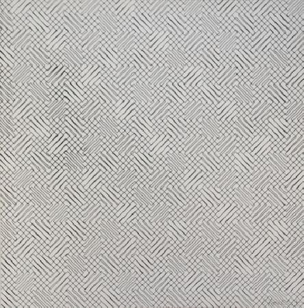 Screenprint Morellet - 2 trames de chevrons-positif