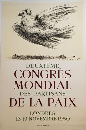 Lithograph Picasso - 2e Congres Mondial des Partisans de la Paix