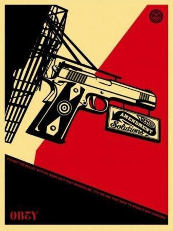 Screenprint Fairey - 2nd Amendment Solutions