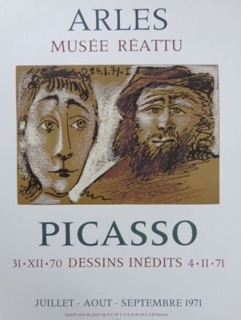 Poster Picasso - 31-XII-70 DESSINS INEDITS 4-11-71