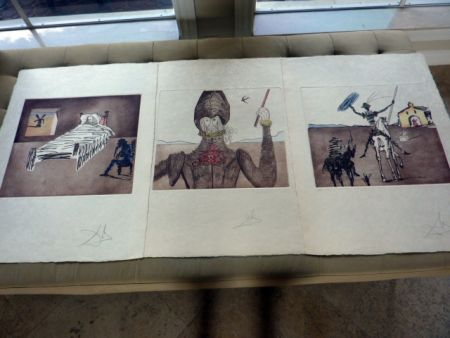 Aquatint Dali - 3 images from Don Quichotte