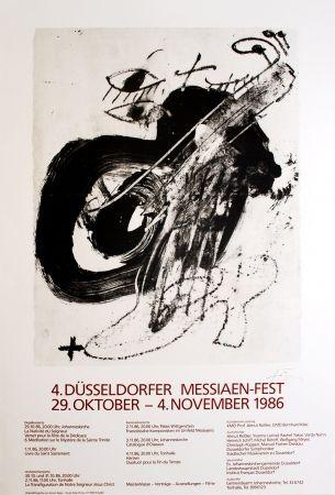 Lithograph Tàpies - 4. Düsseldorfer Messaien-Fest