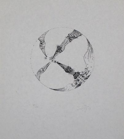 Lithograph Ponc - 4 pájaros (4 Birds)