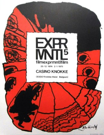 Lithograph Alechinsky - '' 5e Festival du Film Expérimental de Knokke ''
