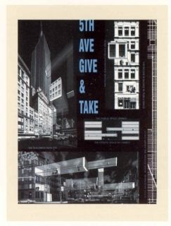 Lithograph Acconci - 5th Ave Give & Take