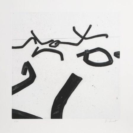 Etching And Aquatint Venet - 6 from Combinaison Aleatoire de Lignes Indeterminees
