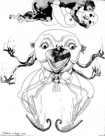 Illustrated Book Lindner - 7 Acqueforti 1980