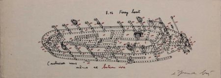 Screenprint Baj - 8.16 Ferry Boat. Construisez-vous-même ce bateau ivre
