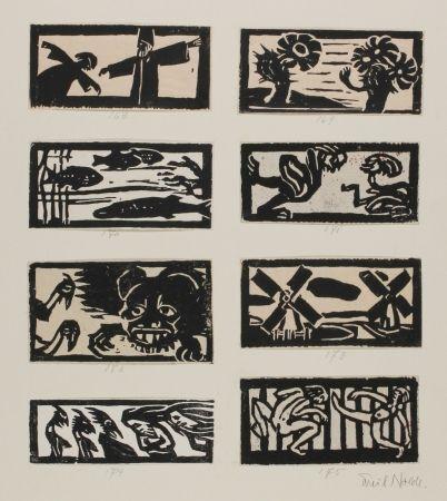 Woodcut Nolde - 8 Vignettes