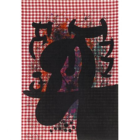 Lithograph Miró - A Baquarol (The Bather)