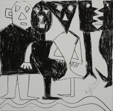 Lithograph Ionesco - A bord de la nef