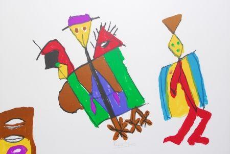 Lithograph Ionesco - A bord de la nef des fous