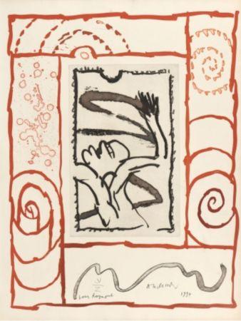 Lithograph Alechinsky - A bras de corps